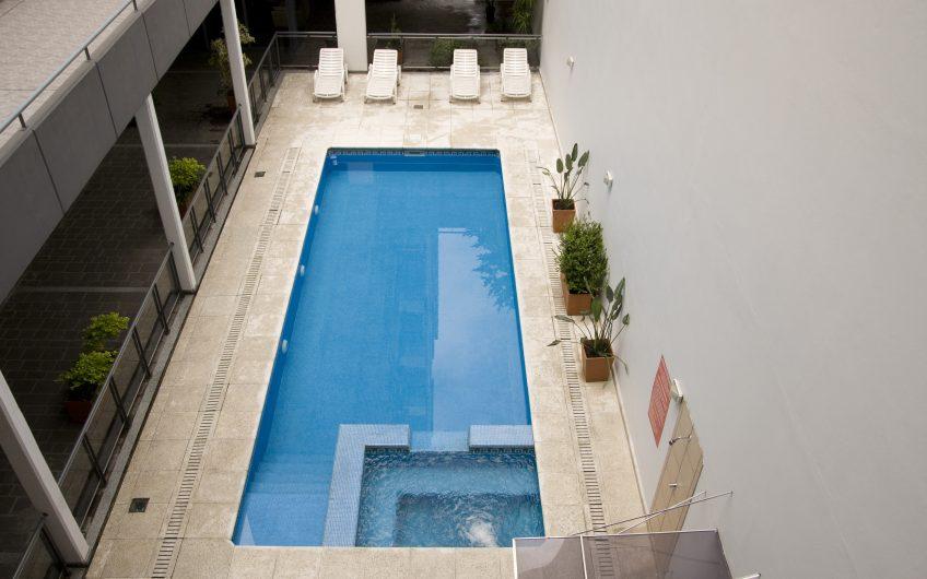 Estudio en edificio con amenities, totalmente equipado!